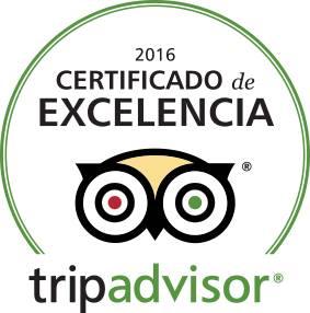 Certificado de Excelencia 2016 Tripadvisor
